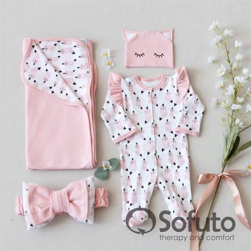 Комплект на выписку летний (4 предмета) Sofuto baby Valvina - фото 11192
