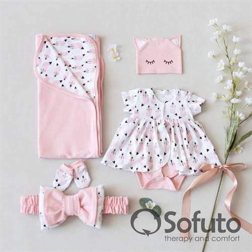 Комплект на выписку жаркое лето (5 предметов) Sofuto baby Valvina - фото 11208