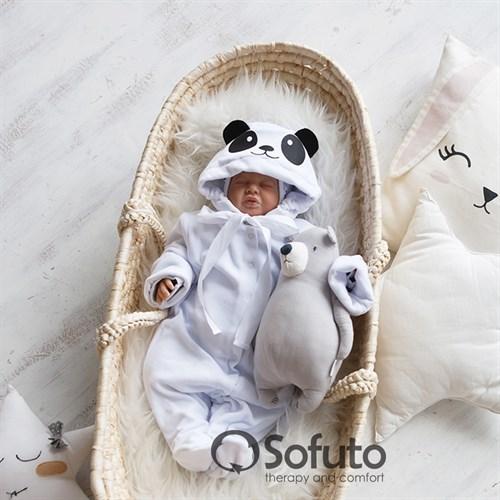 Комбинезон велюровый на кнопках Sofuto baby Panda