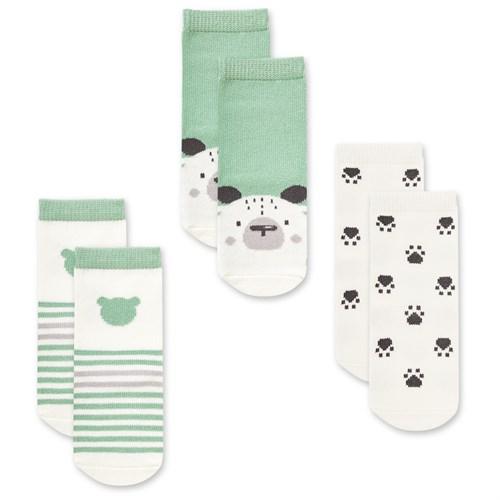 """Носочки 3 пары """"Медвежонок Макс"""" трикотаж зеленый - фото 11354"""