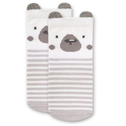 "Носочки 1 пара ""Медвежонок Макс"" трикотаж серый - фото 11404"