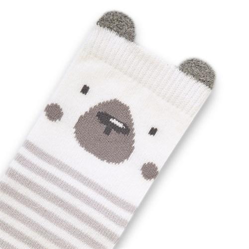 "Носочки 1 пара ""Медвежонок Макс"" трикотаж серый - фото 11406"
