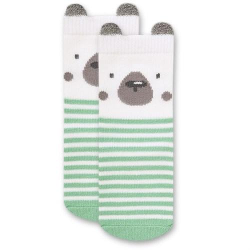 """Носочки 1 пара """"Медвежонок Макс"""" трикотаж зеленый - фото 11424"""