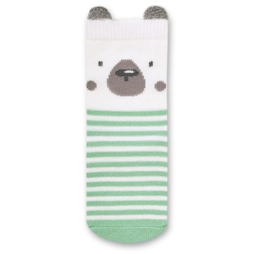 """Носочки 1 пара """"Медвежонок Макс"""" трикотаж зеленый - фото 11425"""