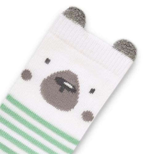 """Носочки 1 пара """"Медвежонок Макс"""" трикотаж зеленый - фото 11426"""
