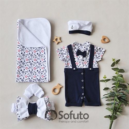Комплект на выписку жаркое лето (5 предметов) Sofuto baby Sailor - фото 11538