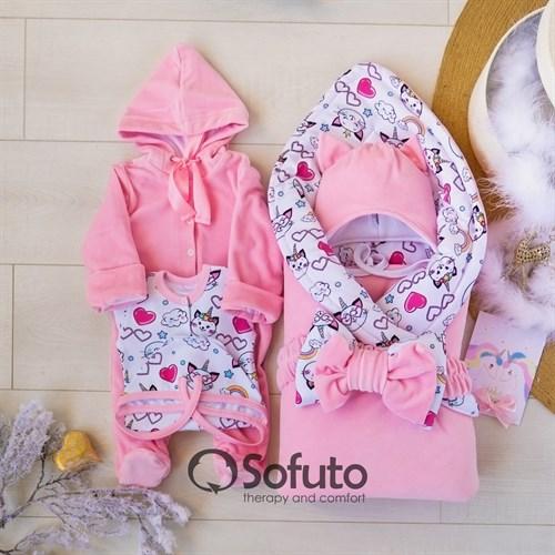 Комплект на выписку зимний (6 предметов) Sofuto baby Caticorn