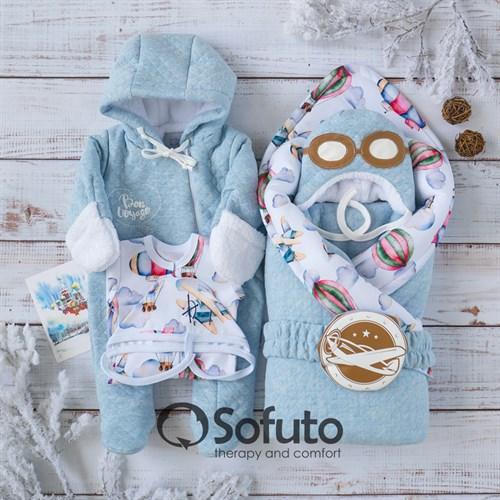 Комплект на выписку холодная зима (6 предметов) Sofuto baby Bon voyage