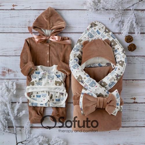 Комплект на выписку зимний (6 предметов) Sofuto baby Teddy