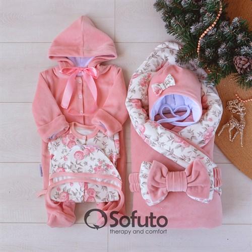 Комплект на выписку зимний (6 предметов) Sofuto baby Vintage poudre
