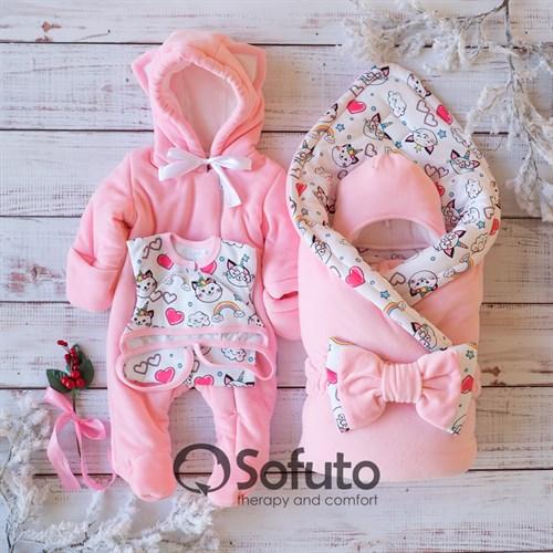Комплект на выписку холодная зима (6 предметов) Sofuto baby Caticorn