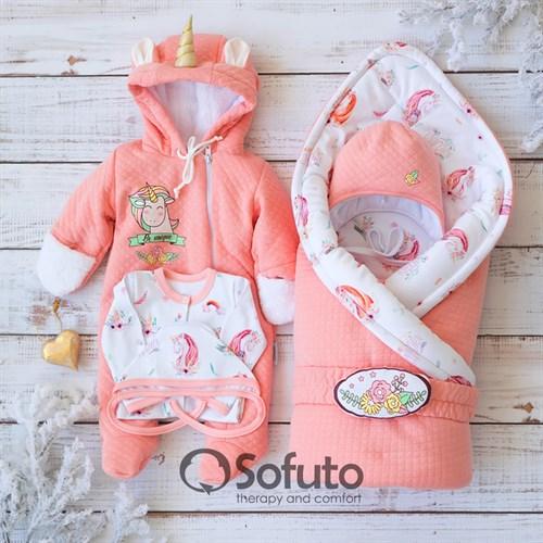 Комплект на выписку холодная зима (6 предметов) Sofuto baby Sweet Unicorn - фото 12732