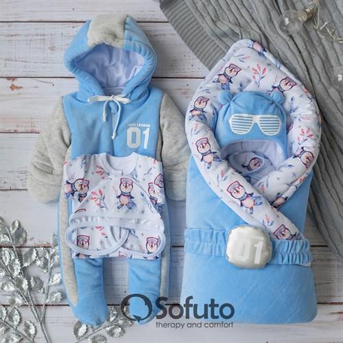 Комплект на выписку холодная зима (6 предметов) Sofuto baby New Legend
