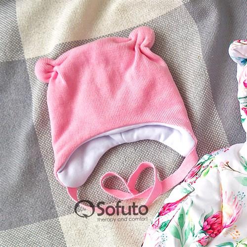 Шапочка демисезонная вязаная Sofuto baby Knite pink