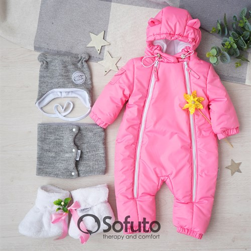 Комбинезон демисезонный Sofuto outwear toddler Pink