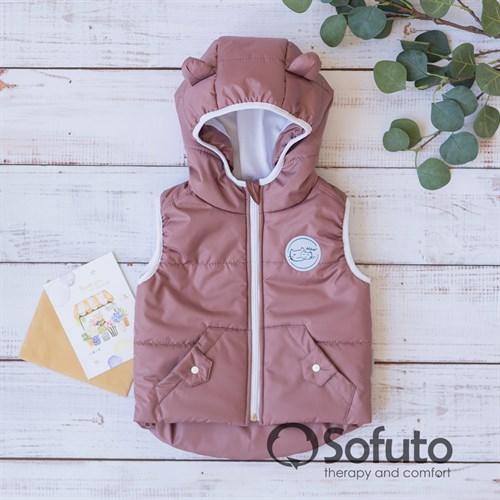 Жилет демисезонный Sofuto outwear Cappuccino - фото 13462