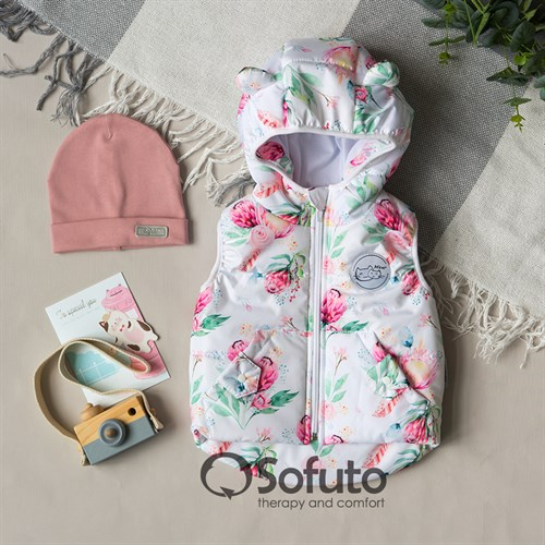 Жилет демисезонный Sofuto outwear Piony