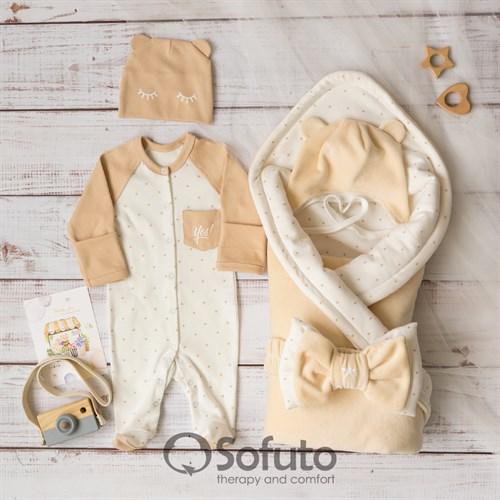 Комплект на выписку холодное лето (5 предметов) Sofuto baby Milky