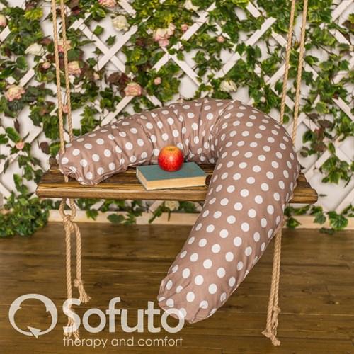 Подушка Sofuto ST Polka dot chocco - фото 3927