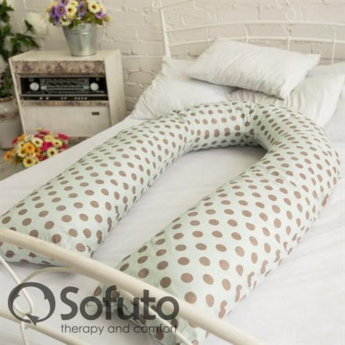 Чехол на подушку Sofuto UComfot Polka dot gray - фото 4169