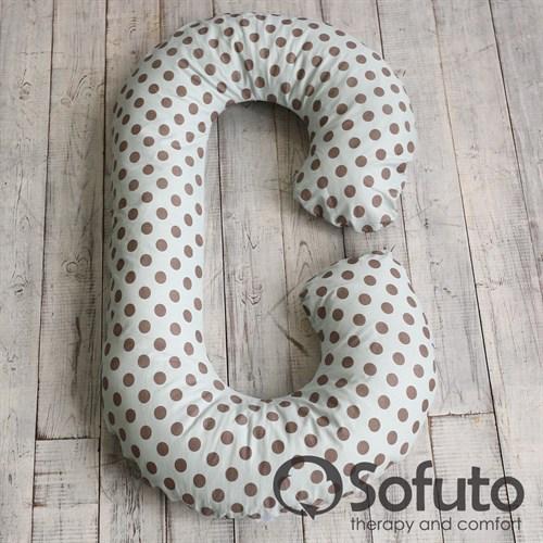 Подушка Sofuto CСompact Polka dot gray - фото 4225