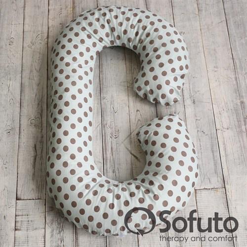 Чехол на подушку Sofuto CСompact Polka dot gray - фото 4589