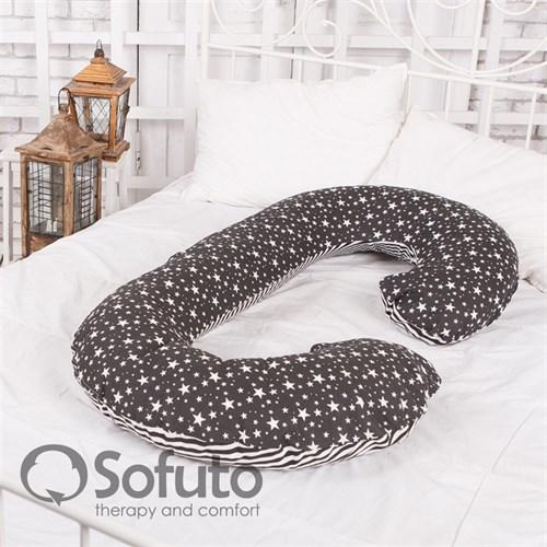 Подушка Sofuto CСompact Stars and stripes black - фото 4657