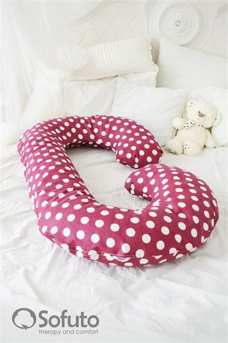 Подушка Sofuto CСompact Polka dot dark chocolate - фото 4672