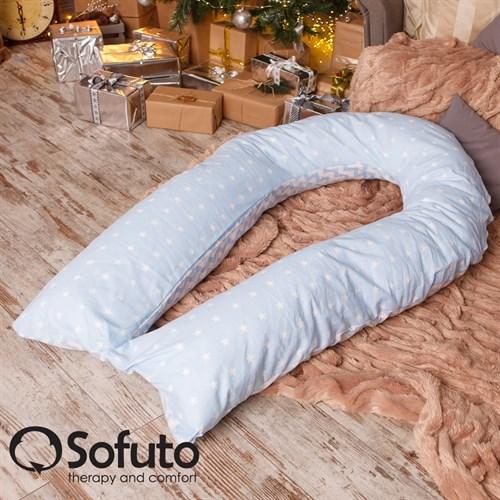 Подушка для беременных Sofuto UComfot Stars and waves blue sky - фото 4821