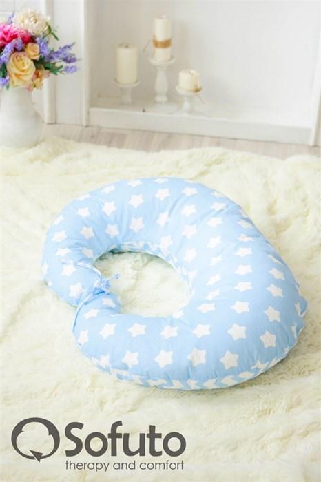 Подушка для кормления Sofuto Stars and waves blue sky - фото 4899