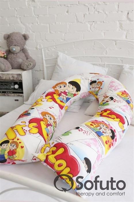 Чехол на подушку для беременных Sofuto UComfot Love is - фото 4935