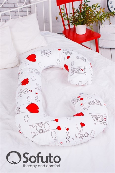 Чехол на подушку для беременных Sofuto CСompact Fly heart - фото 4964