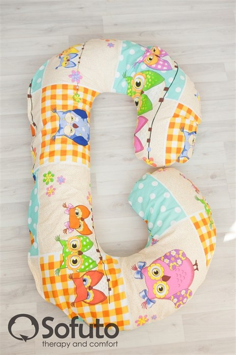 Чехол на подушку для беременных Sofuto CСompact Patchwork Owl - фото 5038