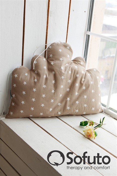 Бортик Sofuto Babyroom Cloud big Latte - фото 5096
