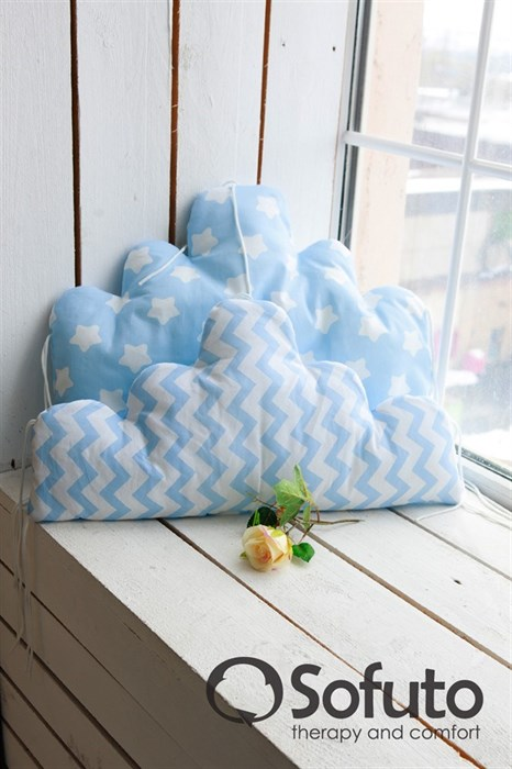 Бортик Sofuto Babyroom Cloud small Blue sky - фото 5110