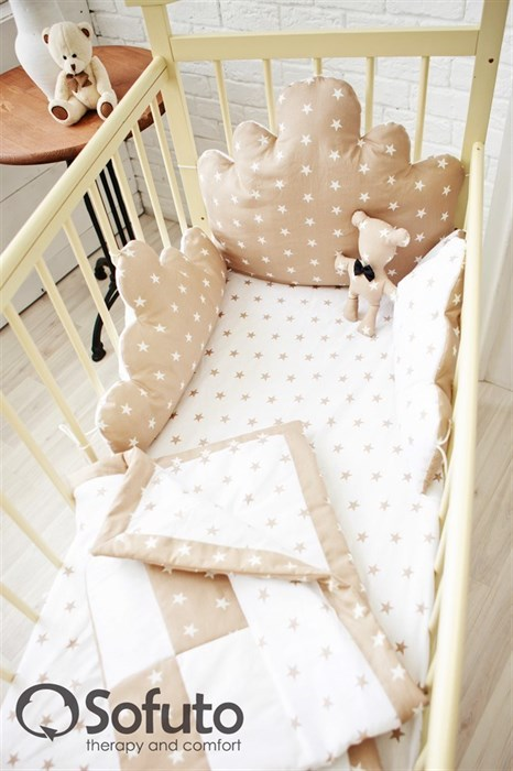 Бортик Sofuto Babyroom Cloud small Latte - фото 5116