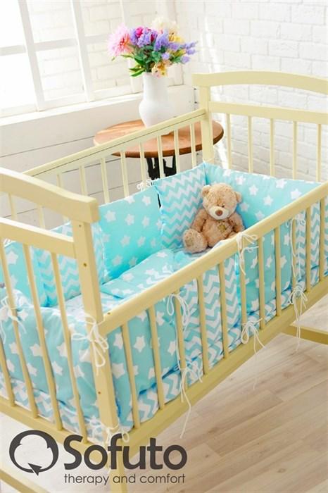 Комплект бортиков Sofuto Babyroom B2-S8-P Aqua - фото 5123