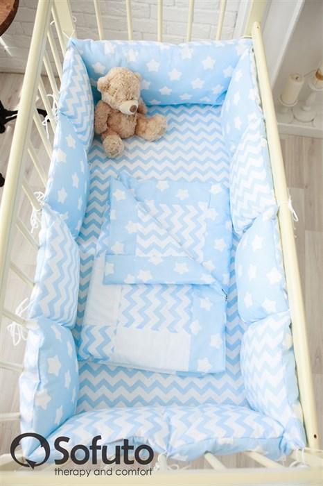 Комплект бортиков Sofuto Babyroom B2-S8-P Blue sky - фото 5126