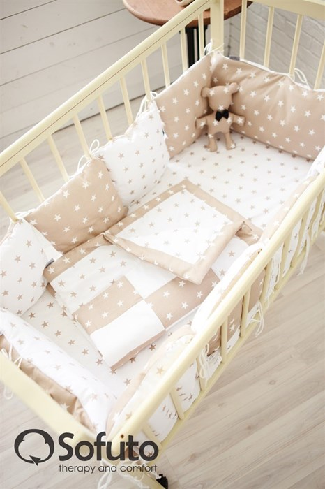 Комплект бортиков Sofuto Babyroom B2-S8-P Latte - фото 5128