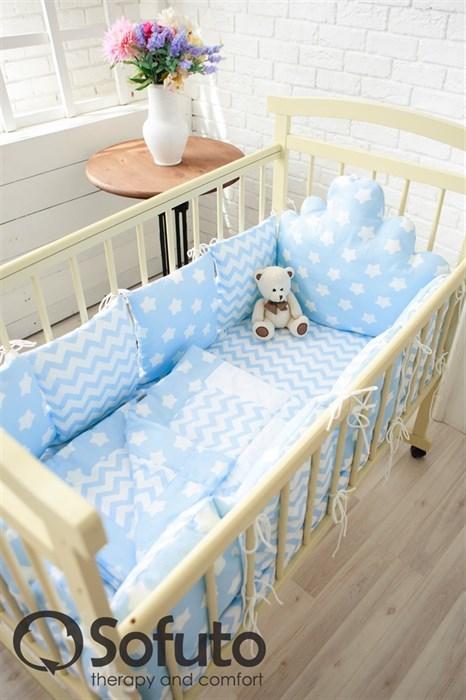 Комплект бортиков Sofuto Babyroom BCL-SCL-S8 Blue sky - фото 5136