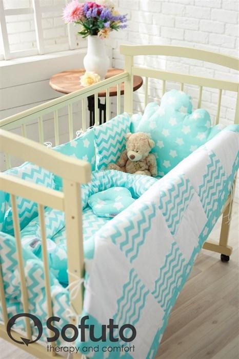Комплект бортиков Sofuto Babyroom BCL-SCL-S8 Aqua - фото 5144