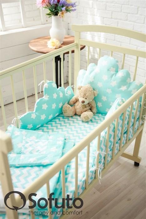 Комплект бортиков Sofuto Babyroom BCL-SCL2 Aqua - фото 5150
