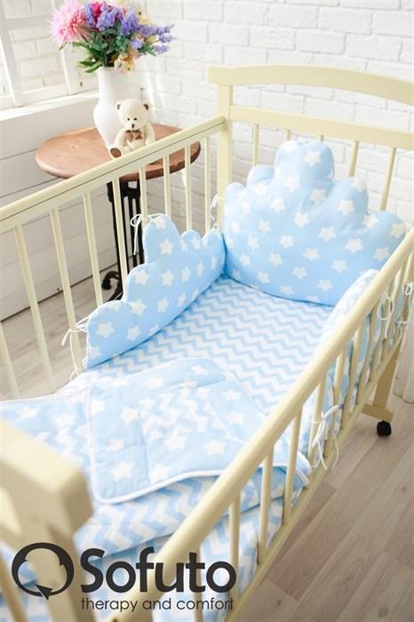 Комплект бортиков Sofuto Babyroom BCL-SCL2 Blue sky - фото 5154
