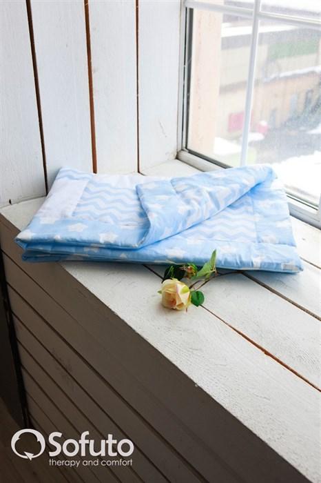 Одеяло стеганное Sofuto Babyroom Blue sky patchwork - фото 5182