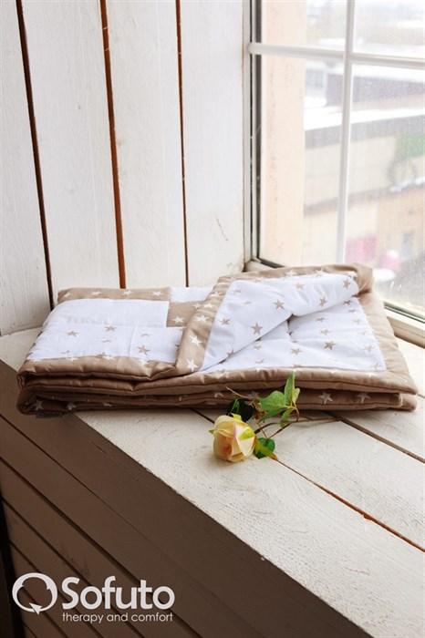 Одеяло стеганное Sofuto Babyroom Latte patchwork - фото 5190