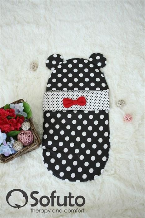 Конверт для новорожденного Sofuto Minnie black dots - фото 5248