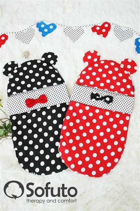 Конверт для новорожденного Sofuto Minnie red dots - фото 5256