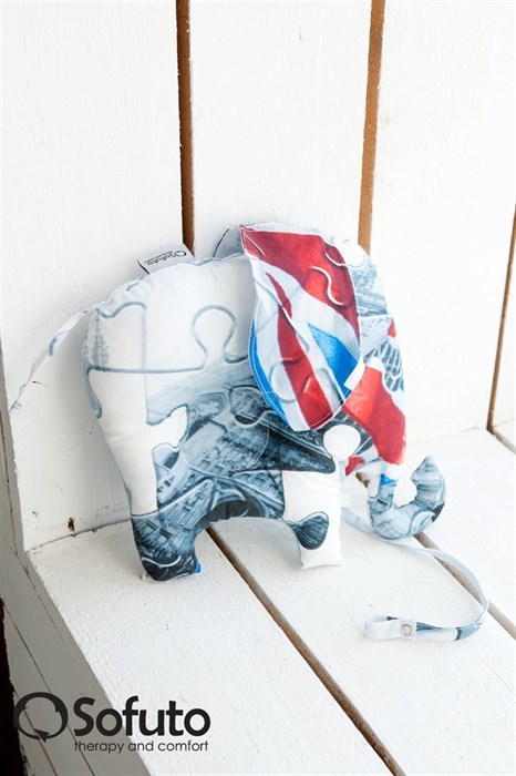 Подушка для новорожденного Sofuto Baby pillow Elephant London - фото 5284