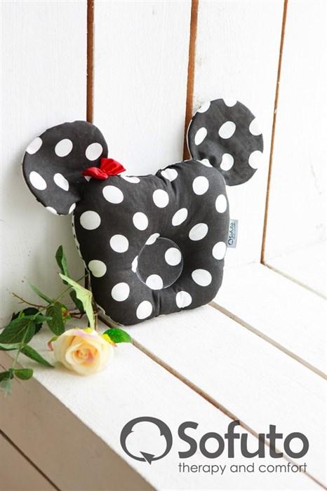 Подушка для новорожденного Sofuto Baby pillow Minnie black dots - фото 5288