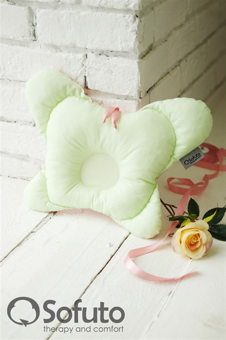 Подушка для новорожденного Sofuto Baby pillow Butterfly Ness - фото 5312